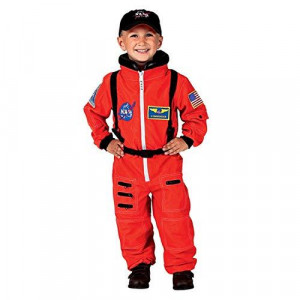 Jr. Astronaut Suit w/Embroidered Cap, size 2/3 (Orange)