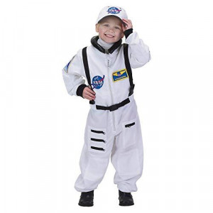 Jr. Astronaut Suit w/Embroidered Cap, size 4/6 (White)