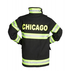 Jr. Firefighter Suit w/Embroidered Cap, size 18Month (Black) CHICAGO