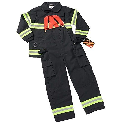 Adult Firefighter Suit, size Adult Large (Black) CHICAGO (Helmet Sold Separately)