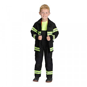 Adult Firefighter Suit, size Adult Small (Black) NEW YORK (Helmet Sold Separately)