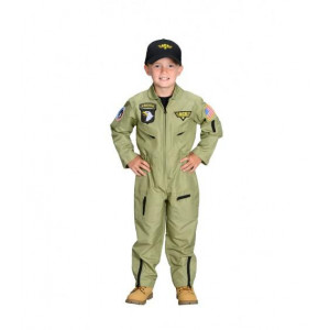 Jr. Fighter Pilot Suit w/Embroidered Cap, size 8/10
