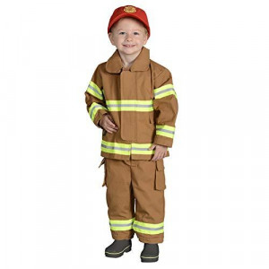 Jr. Firefighter Suit w/Embroidered Cap, size 18Month (Tan) NEW YORK