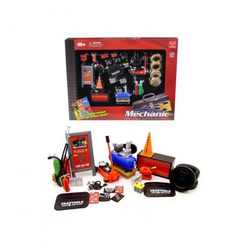Mechanic Accessory Set For 1/24 Scale Cars 23 Pieces by Phoenix Toys