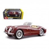 1948 Jaguar XK 120 Roadster Burgundy 1/24 Diecast Model Car by Bburago