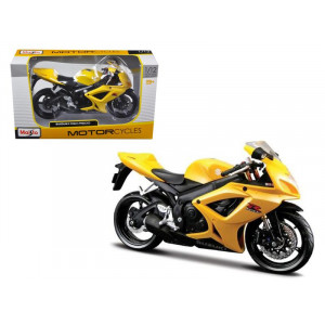 Suzuki GSX R 600 Yellow Motorcycle 1/12 Diecast Model by Maisto