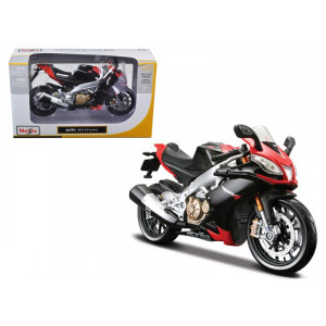 Aprilia RSV4 Factory Red / Black Motorcycle 1/12 Diecast Model by Maisto