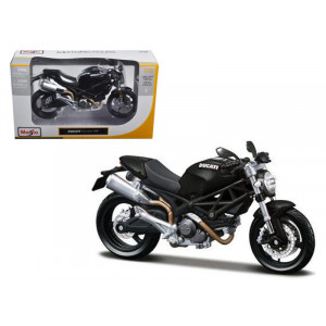 Ducati Monster 696 Black Motorcycle 1/12 Diecast Model by Maisto