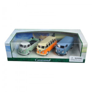 Volkswagen Buses 3pc Gift Set 1/43 Diecast Model Cars by Cararama