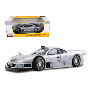 Mercedes CLK GTR Street Silver 1/18 Diecast Model Car by Maisto