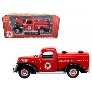"""1940 Ford Tanker Texaco"""" Red 1/18 Diecast Model Car by Beyond The Infinity"""""""