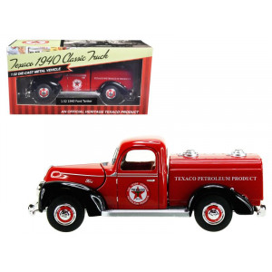 """1940 Ford Tanker Texaco"""" Red 1/32 Diecast Model Car by Beyond The Infinity"""""""
