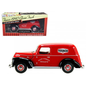 """1940 Ford Panel Van Texaco"""" Red 1/32 Diecast Model Car by Beyond The Infinity"""""""
