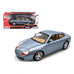 Porsche 911 Carrera Grey 1/18 Diecast Model Car by Motormax