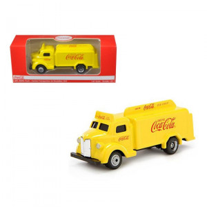 1947 Coca Cola Delivery Bottle Truck Yellow 1/87 Diecast Model by Motorcity Classics