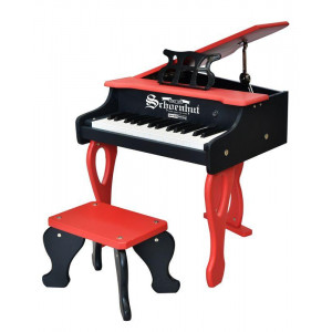 Schoenhut 30-Key Two Tone Red/Black Digital Baby Grand Piano - Red & Black