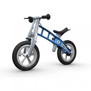 FirstBIKE Street Balance Bike with Brake, Light Blue - for Kids & Toddlers Ages 2,3,4,5