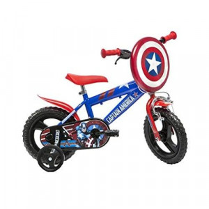 Dino Bikes 412UL-CA Marvel Captain America Kids Bicycle, Red