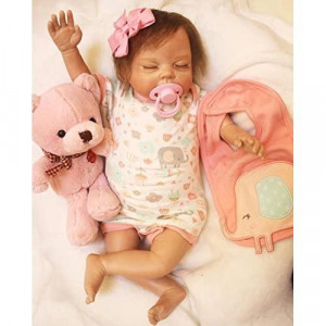 Wamdoll 22inch Alive Sleepy Reborn Baby Dolls,A Moment In My Arms,Forever In My Heart