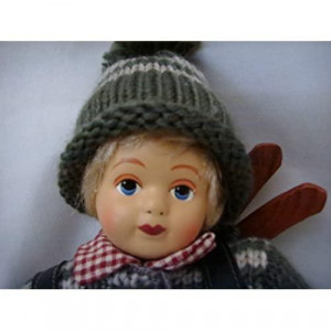 Swedish Scandinavian Skiing Doll 12 Collectible with Ski Clothes && Stand