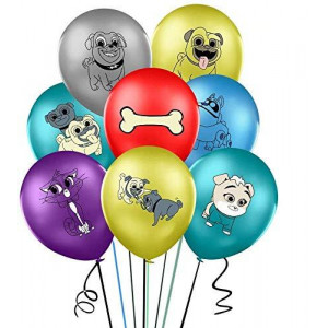 32Pcs Puppy Dogs Balloons, Colorful Thickened Latex Balloon Set, Perfect Decoration for Party, Birthday, Ceremony, Christmas