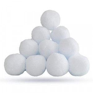 YBB 20 Pack Christmas Fake Snowballs, 2.8 Inch Realistic White Plush Snow Balls for Kids Adults Indoor Outdoor Snowball Fight Game Winter Xmas Decoration