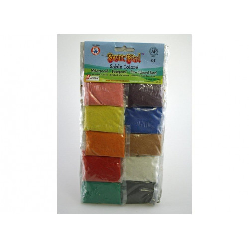 ACTIVA 1 oz. Bags of 10 Assorted Colors of Scenic Sand