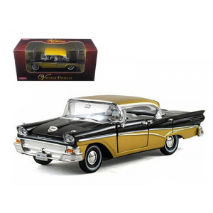 1958 Ford Fairlane Black 1/32 Diecast Car Model By Arko Products