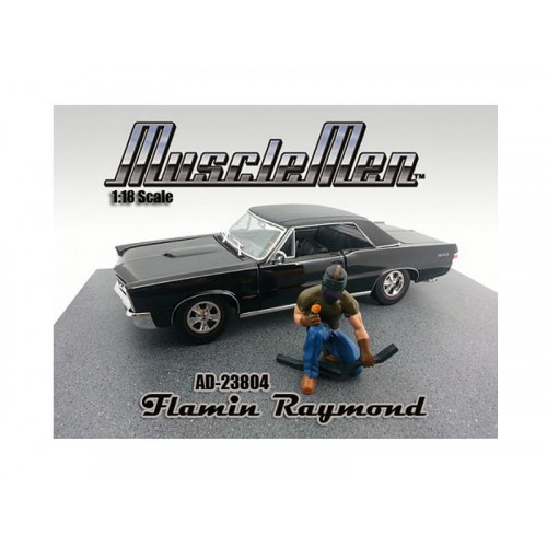 Musclemen Flamin Raymond Figure For 1:18 Scale Diecast Car Models By American Diorama