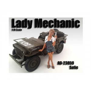 Lady Mechanic Sofie Figure For 1:18 Scale Models By American Diorama