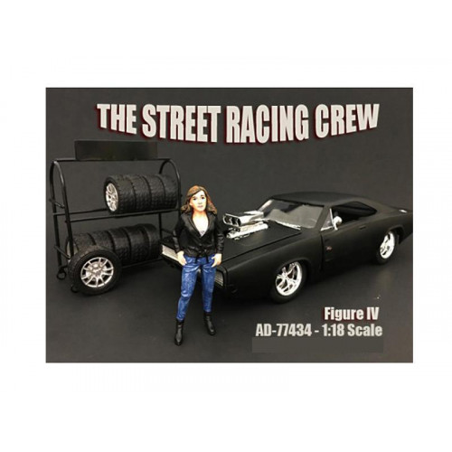 The Street Racing Crew Figure IV For 1:18 Scale Models by American Diorama
