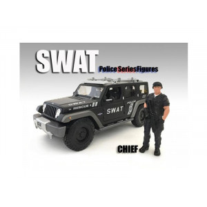 Swat Team Chief Figure For 1:24 Scale Models By American Diorama