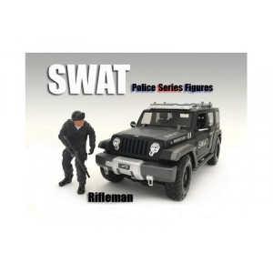 SWAT Team Rifleman Figure For 1:24 Scale Models by American Diorama