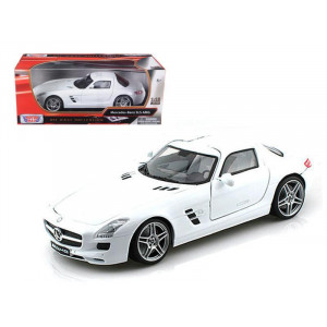 Mercedes SLS AMG Gullwing Chocolate 1/18 Diecast Car Model by Motormax