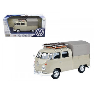 Volkswagen Type 2 (T1) Delivery Pickup Truck Beige 1/24 Diecast Model Car by Motormax