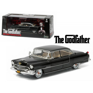 The Godfather 1955 Cadillac Fleetwood Series 60 Special Black (1972) Movie 1/43 Diecast Model Car by Greenlight