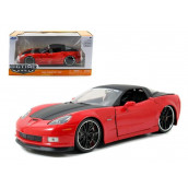 2006 Chevrolet Corvette Z06 Red 1/24 Diecast Car Model by Jada