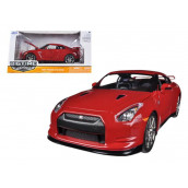 2009 Nissan GT-R R35 Red 1/24 Diecast Car Model by Jada