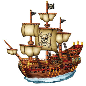 Jointed Pirate Ship (Pack of 12)