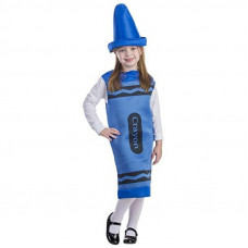 Blue Crayon Costume - Size S (4-6)