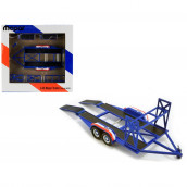 Tandem Car Trailer with Tire Rack Blue Mopar for 1/43 Scale Model Cars by GMP 14310
