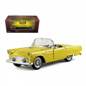 1955 Ford Thunderbird Convertible Yellow 1/32 Diecast Car Model by Arko Products 05521y