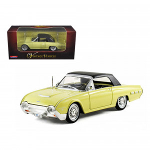 1962 Ford Thunderbird Yellow 1/32 Diecast Car Model by Arko Products 06201y