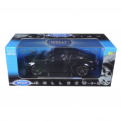 Bentley Continental Supersports Black 1/18 Diecast Car Model by Welly 18038bk