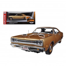 1969 Dodge Coronet R/T Light Bronze Poly HEMI 50th Anniversary Limited to 1250pc1/18 Diecast Model Car by Autoworld AMM1024