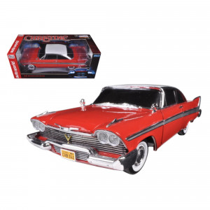 1958 Plymouth Fury Christine Night Time Version 1/18 Diecast Model Car by Autoworld AWSS102