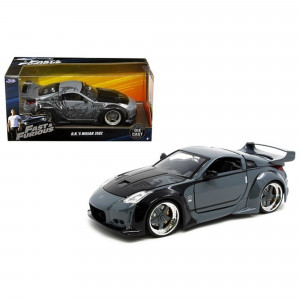 D.K.'s Nissan 350Z Gray and Black Fast and Furious Movie 1/24 Diecast Model Car by Jada 97172
