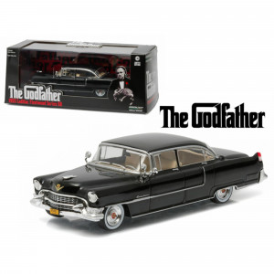 1955 Cadillac Fleetwood Series 60 Special Black The Godfather (1972) Movie 1/43 Diecast Model Car by Greenlight 86492