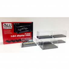 6 Collectible Display Show Cases for 1/64 Scale Model Cars by Autoworld AWDC008
