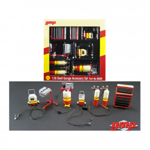 6pc Shop Tools Set #1 Shell Oil 1/18 Diecast by GMP 18869